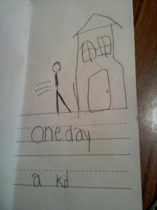 one day a kid