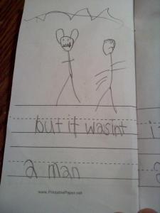 but it wasn't a man