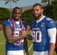 Henry Melton at the 2012 Pro Bowl with teammate Julius Peppers.  Kirby Lee-USA TODAY Sports